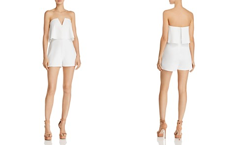 Sunset + Spring Strapless Popover Romper - 100% Exclusive - Bloomingdale's_2