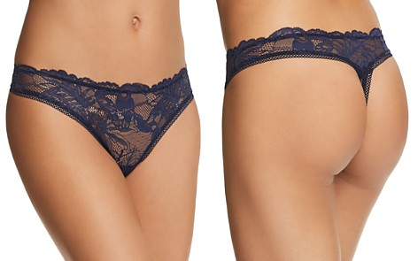 Calvin Klein Bird Lace Thong - Bloomingdale's_2