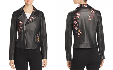 Elie Tahari Mae Embroidered Leather Moto Jacket - Bloomingdale's_2