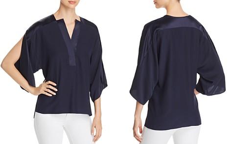 Elie Tahari Nolia Slit-Sleeve Silk Top - Bloomingdale's_2