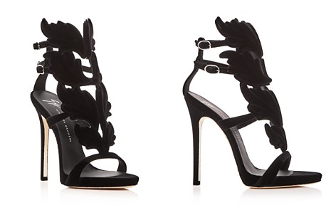 Giuseppe Zanotti Women's Winged Flocked Velvet High-Heel Sandals - Bloomingdale's_2