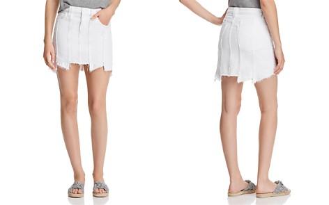 Hudson Weekender Paneled Denim Skirt in White - Bloomingdale's_2