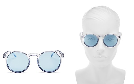 Le Specs Women's Teen Spirit Deux Mirrored Round Sunglasses, 50mm - Bloomingdale's_2