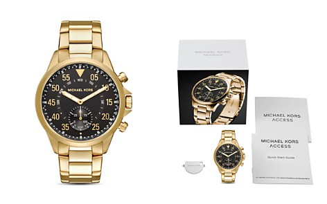 Michael Kors Access Gage Gold-Tone Hybrid Smartwatch, 45mm - Bloomingdale's_2