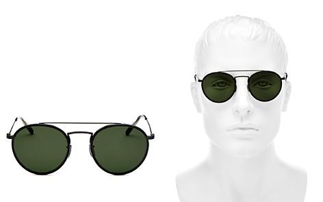 Oliver Peoples Men's Ellice Brow Bar Round Sunglasses, 50mm - Bloomingdale's_2