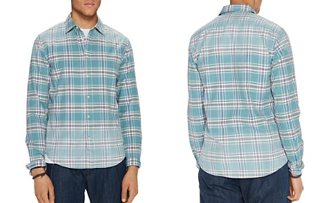 Scotch & Soda Bleached Plaid Relaxed Fit Shirt - Bloomingdale's_2