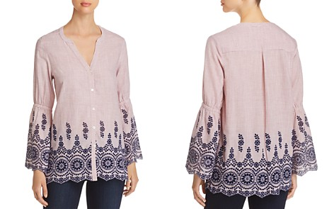 NIC+ZOE Ciao Bella Embroidered Shirt - Bloomingdale's_2