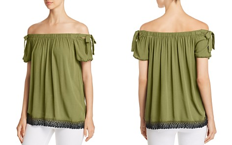 Love Scarlett Off-the-Shoulder Crochet-Hem Top - Bloomingdale's_2