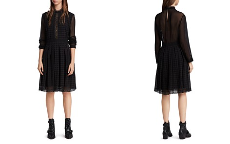 ALLSAINTS Lilith Eyelet Fit-and-Flare Dress - Bloomingdale's_2