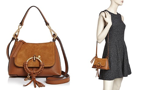 See By Chloé Joan Mini Leather Suede Hobo Bloomingdale S 2