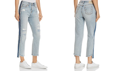 True Religion High Rise Starr Crop Straight Jeans in Tumbled Fossil - Bloomingdale's_2