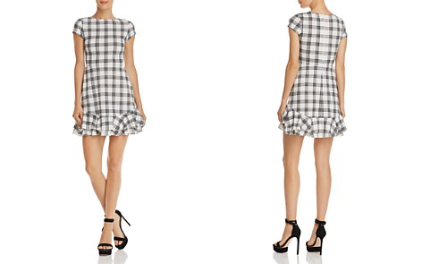 AQUA Tiered-Hem Plaid Dress - 100% Exclusive - Bloomingdale's_2