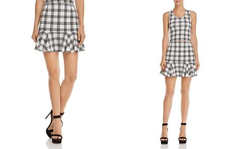 AQUA Flounce-Hem Plaid Skirt - 100% Exclusive - Bloomingdale's_2