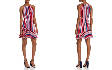 AQUA Flounce-Hem Striped Dress - 100% Exclusive - Bloomingdale's_2