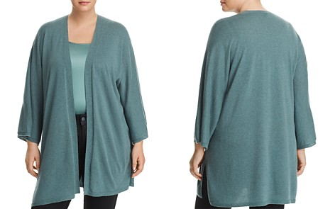 Eileen Fisher Plus Cashmere Open-Front Cardigan - Bloomingdale's_2