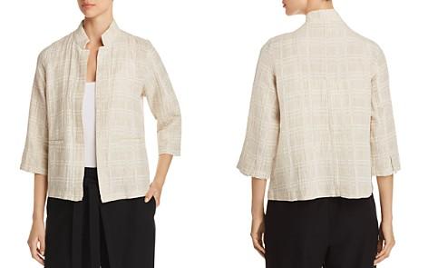 Eileen Fisher Plaid Gauze Open-Front Jacket - Bloomingdale's_2