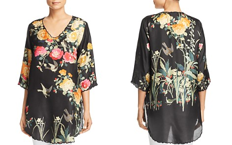 Johnny Was Collection Charlotte Rose Scalloped Silk Tunic - Bloomingdale's_2