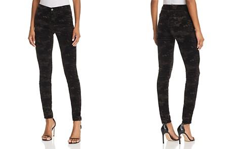 J Brand 815 Mid Rise Super Skinny Jeans in Camo Velvet - 100% Exclusive - Bloomingdale's_2