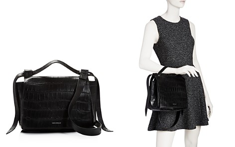 ELENA GHISELLINI Foxy Medium Croc-Embossed Leather Satchel - Bloomingdale's_2