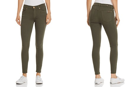 7 For All Mankind Ankle Skinny Jeans in Army - Bloomingdale's_2