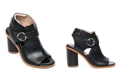 Bernardo Hazel Peep-Toe Leather Booties - Bloomingdale's_2