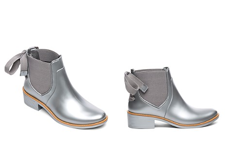 Bernardo Women's Waterproof Metallic Rubber Bow Rain Booties - Bloomingdale's_2