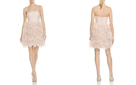 HALSTON HERITAGE Strapless Ruffled Dress - Bloomingdale's_2