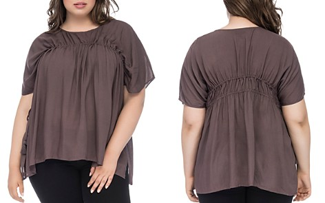 B Collection by Bobeau Curvy Tassel Drawstring Top - Bloomingdale's_2
