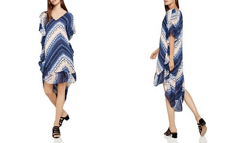 BCBGeneration Chevron High/Low Shift Dress - Bloomingdale's_2