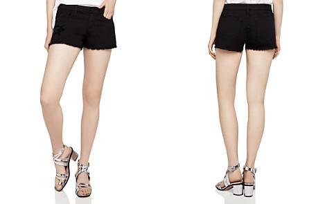 BCBGeneration Frayed Denim Shorts in Distressed Black - Bloomingdale's_2