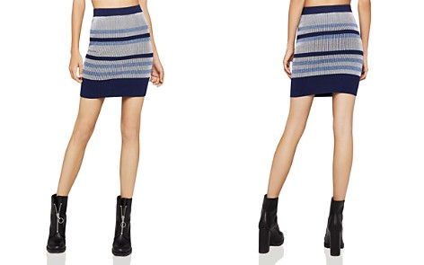 BCBGeneration Rib-Knit Striped Skirt - Bloomingdale's_2