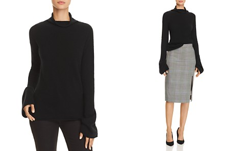 Theory Bell-Sleeve Cashmere Sweater - Bloomingdale's_2