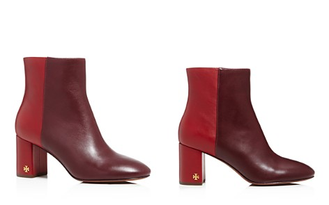Tory Burch Women's Brooke Two-Tone Leather Booties - Bloomingdale's_2