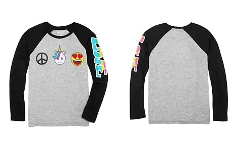 Flowers by Zoe Girls' Raglan Peace, Unicorns & Emoji Tee - Big Kid - Bloomingdale's_2