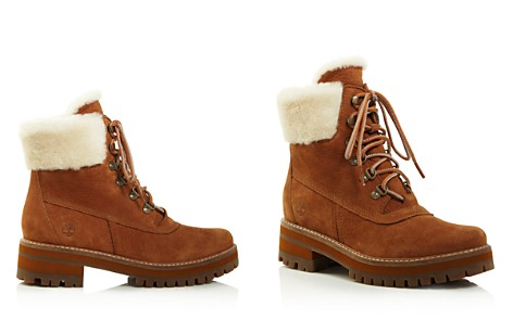 Timberland Women's Courmayeur Valley Round Toe Suede & Shearling Boots - Bloomingdale's_2