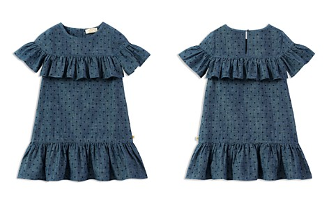 kate spade new york Girls' Ruffled Polka-Dot Chambray Dress - Little Kid - Bloomingdale's_2