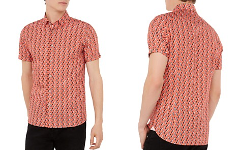 Ted Baker Pineles Pineapple Print Short Sleeve Sport Shirt - Bloomingdale's_2