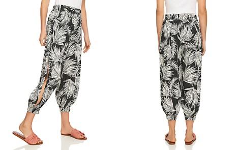 1.STATE Palm-Print Cropped Harem Pants - Bloomingdale's_2