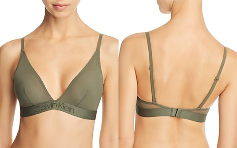 Calvin Klein Tonal Logo Convertible Wireless Triangle Bralette - Bloomingdale's_2