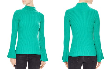 Sandro Estelle Flare-Sleeve Cable Knit Sweater - Bloomingdale's_2
