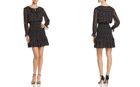 Emporio Armani Dotted & Star-Print Dress - Bloomingdale's_2