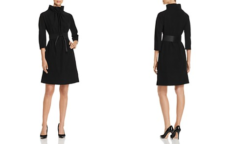 Emporio Armani Belted Funnel Neck A-Line Dress - Bloomingdale's_2