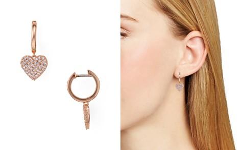 kate spade new york Pavé Heart Drop Earrings - Bloomingdale's_2