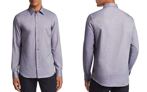Emporio Armani Layered Diamond-Print Regular Fit Sport Shirt - Bloomingdale's_2