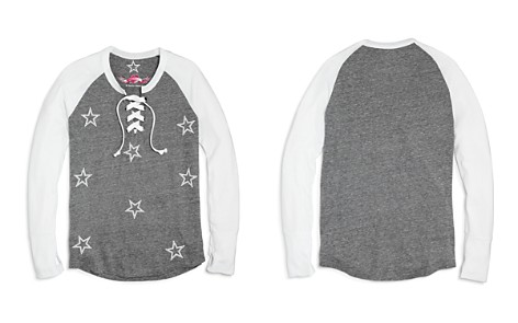 So Nikki... Girls' Star-Print Raglan Lace-Up Tee - Big Kid - Bloomingdale's_2
