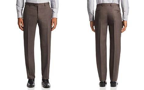 Emporio Armani Flat-Front Tailored Fit Pants - Bloomingdale's_2