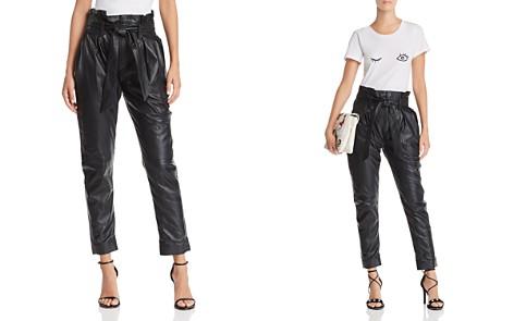 Joie Adorabella B High Waist Leather Pants - Bloomingdale's_2