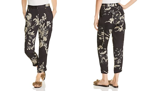 Donna Karan New York Floral Cropped Cargo Pants - Bloomingdale's_2