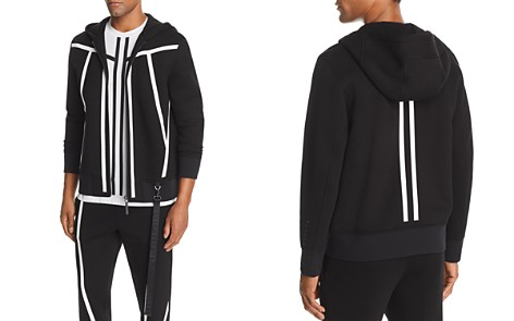 BLACKBARRETT by Neil Barrett Tape-Stripe Scuba Hoodie - Bloomingdale's_2