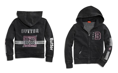 Butter Girls' Embellished Fleece Varsity Hoodie, Little Kid, Big Kid - 100% Exclusive - Bloomingdale's_2